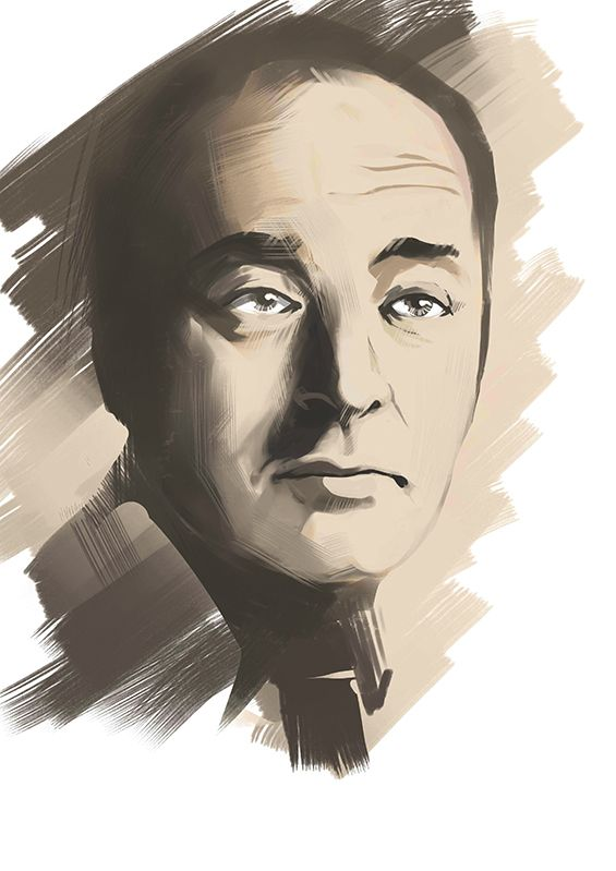 Плакат-портрет Владимира Набокова - дизайнер CAToo7