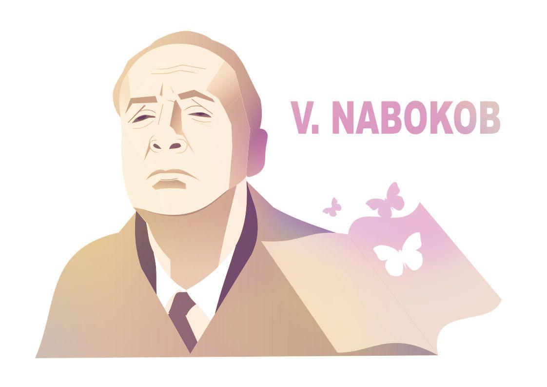 Плакат-портрет Владимира Набокова - дизайнер olenyonok