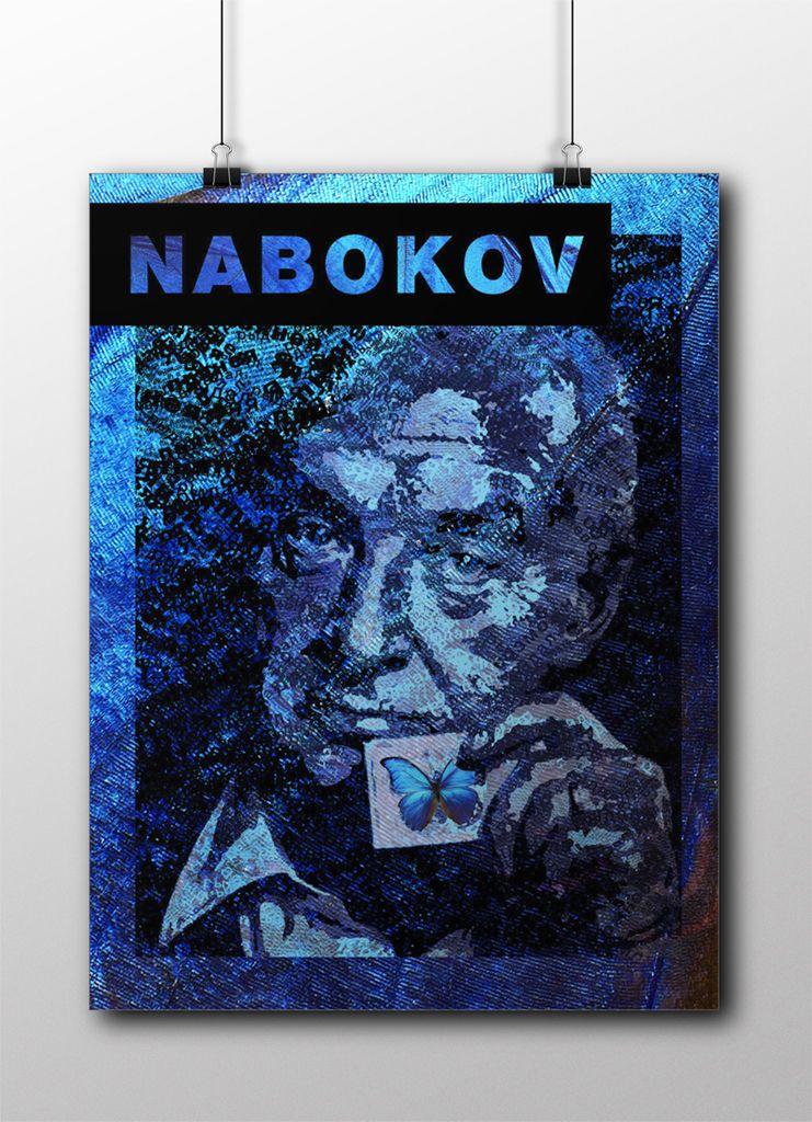 Плакат-портрет Владимира Набокова - дизайнер Mirrad