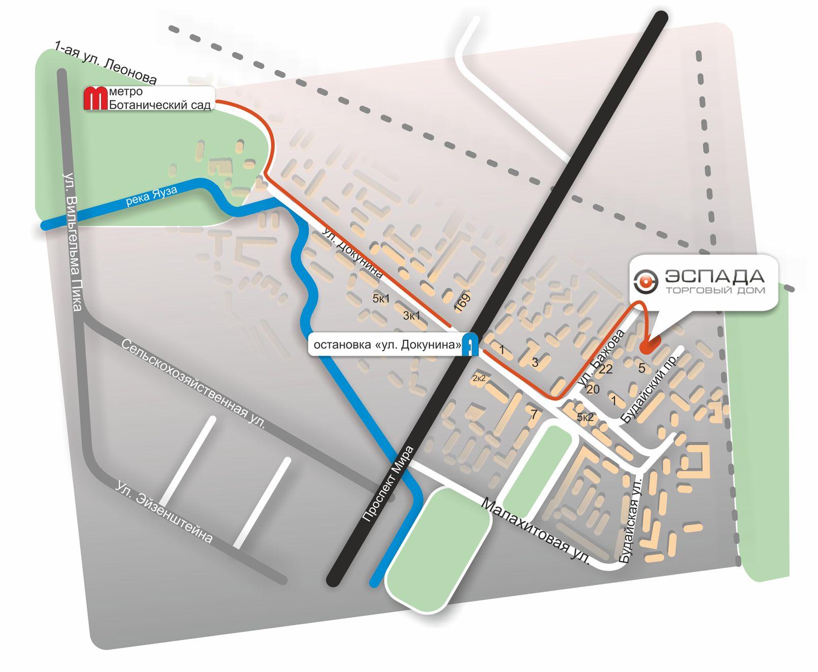 Красивая схема проезда для сайта - дизайнер art-pil-noire