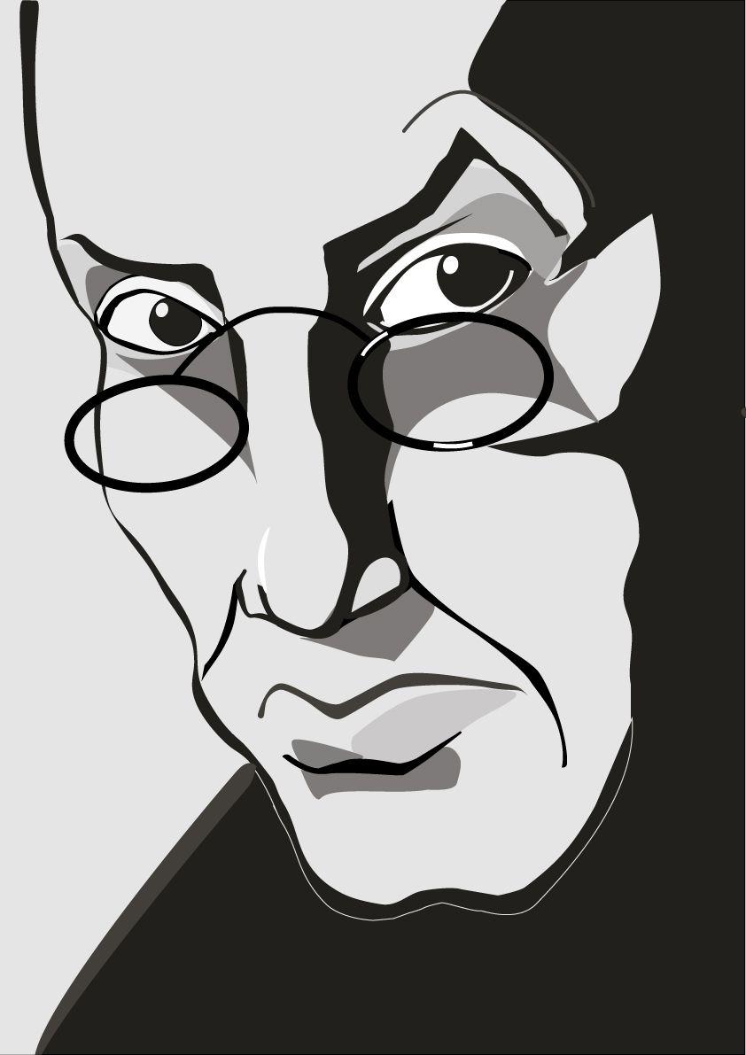 Плакат-портрет Владимира Набокова - дизайнер marizukova11