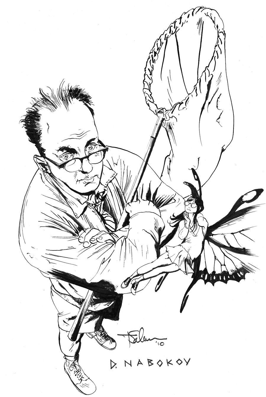 Плакат-портрет Владимира Набокова - дизайнер aix23