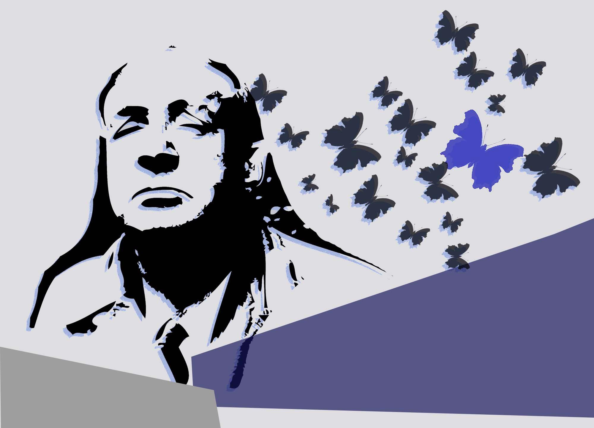Плакат-портрет Владимира Набокова - дизайнер ElizavetParamon