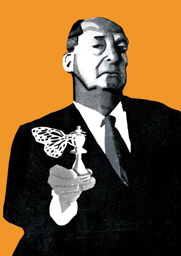 Плакат-портрет Владимира Набокова - дизайнер ritacherepanova