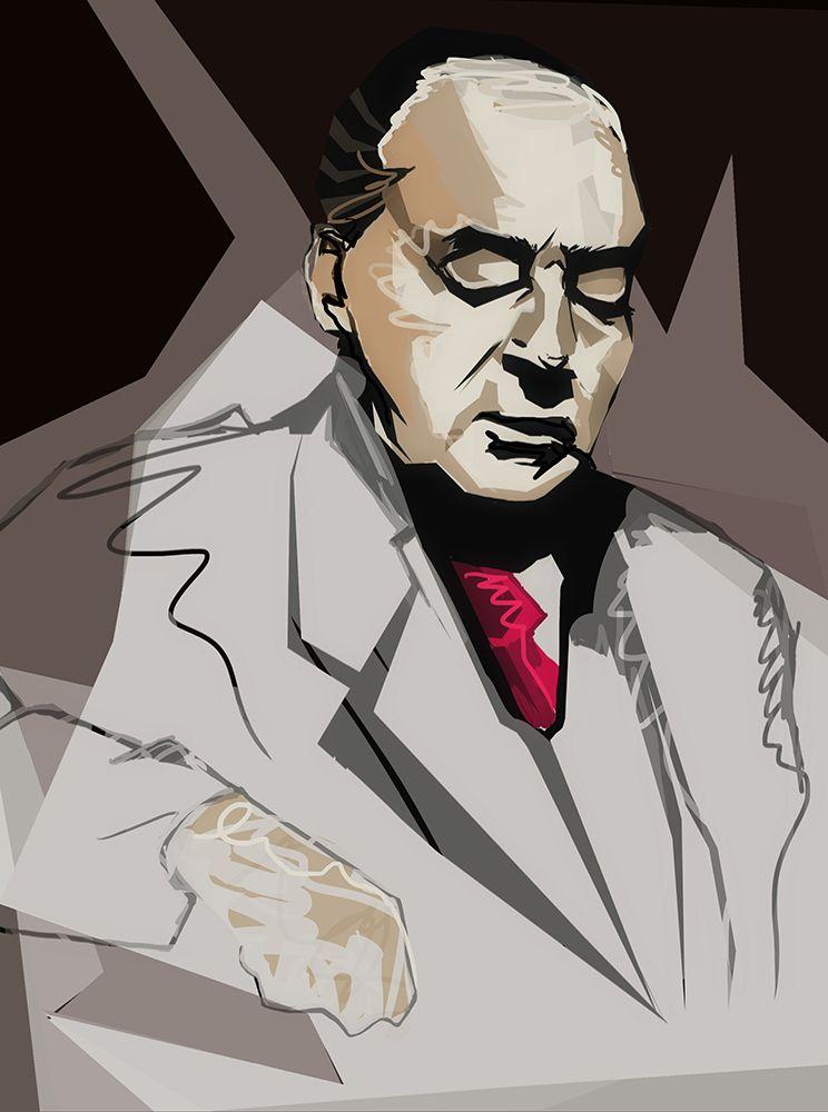 Плакат-портрет Владимира Набокова - дизайнер Anustas