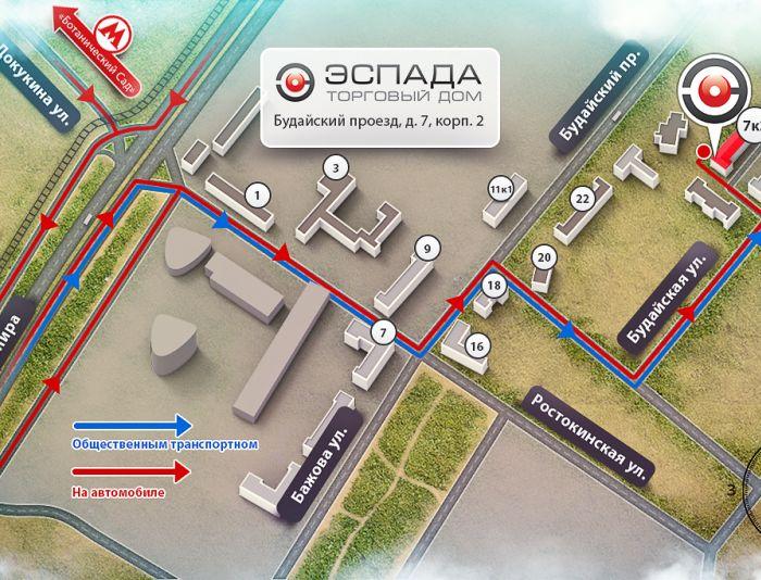 Красивая схема проезда для сайта - дизайнер Qugurun