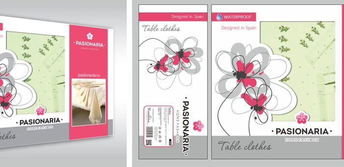Создание макета подарочной упаковки для скатертей - дизайнер Mini_kleopatra