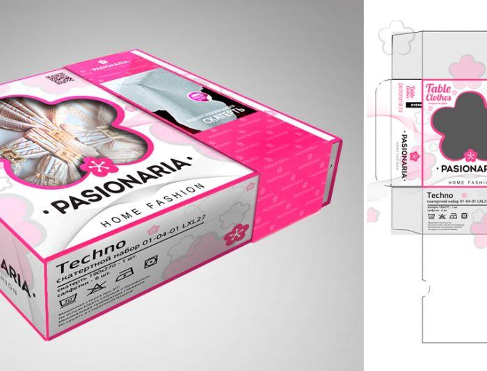 Создание макета подарочной упаковки для скатертей - дизайнер angelalobanova