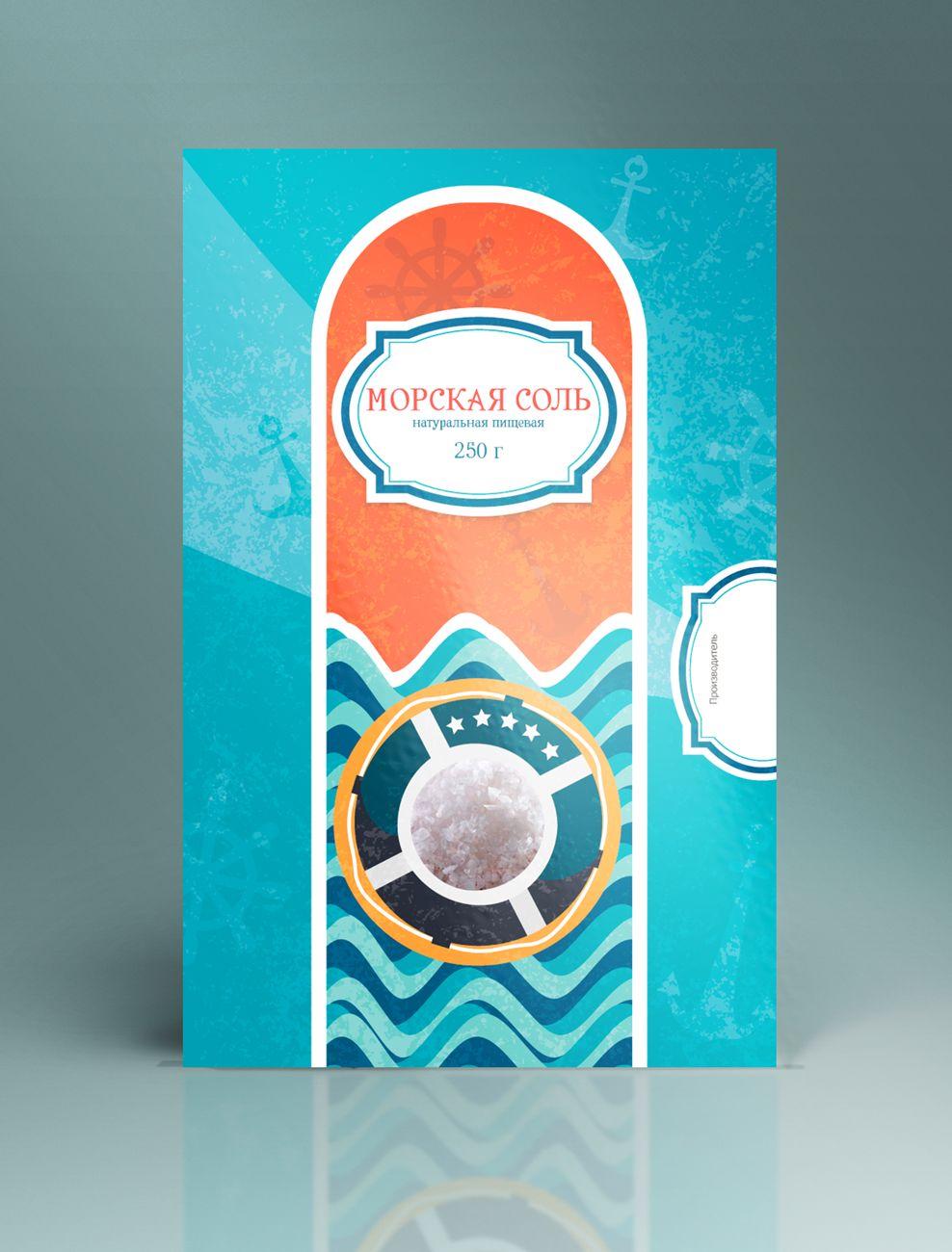 Дизайн этикетки для соли пищевой морской  - дизайнер Barbagorga