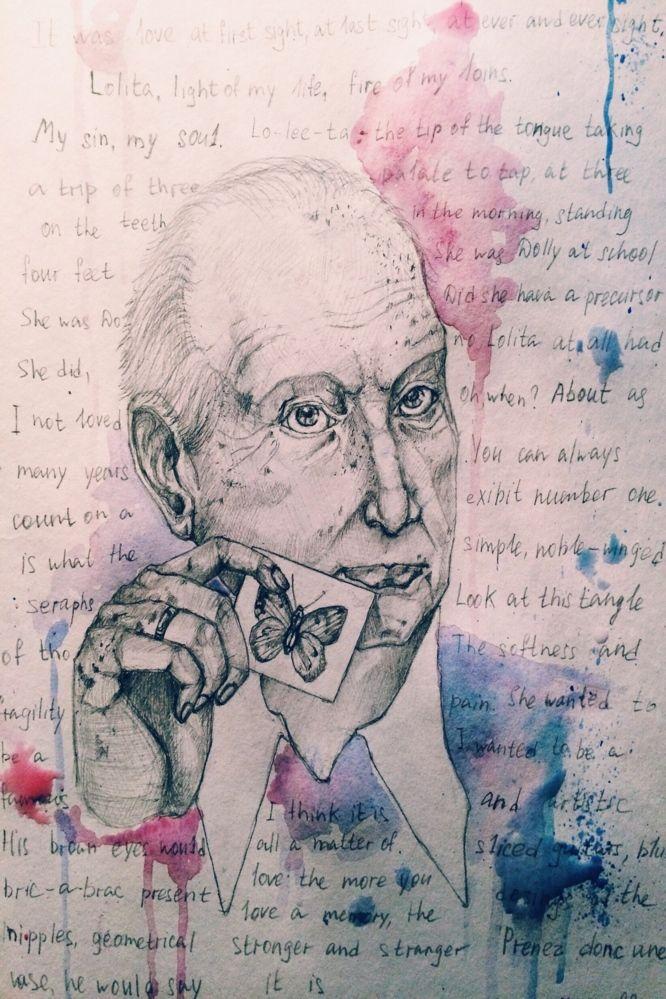Плакат-портрет Владимира Набокова - дизайнер oisforOphelia
