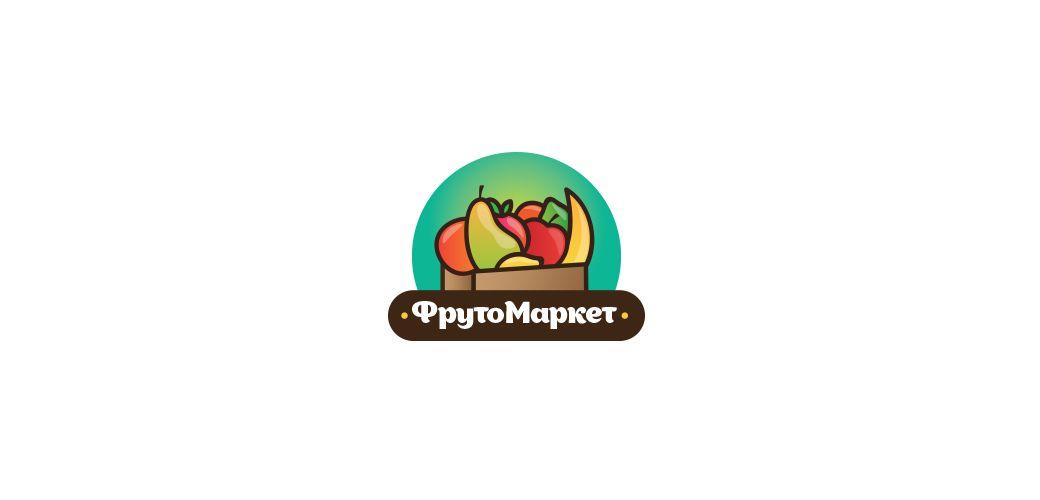 Логотип-вывеска фруктово-овощных магазинов премиум - дизайнер baader_meinhof