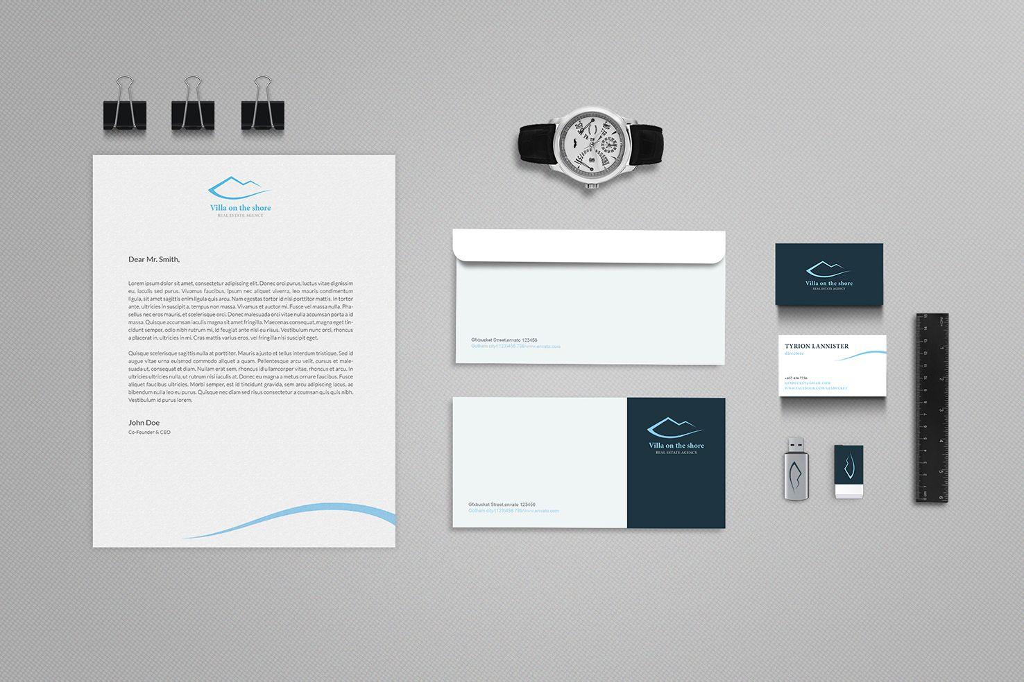Фирстиль для агентства зарубежной недвижимости - дизайнер Der_Zhuk