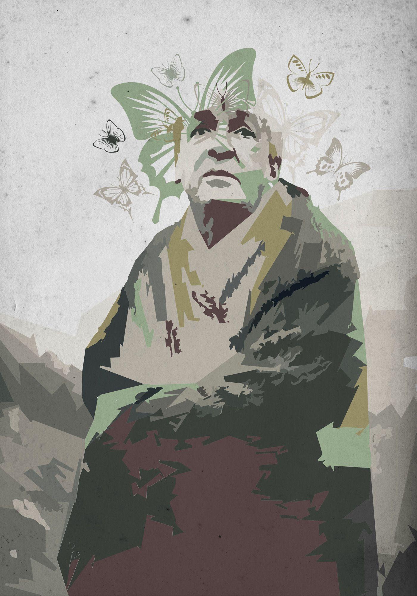 Плакат-портрет Владимира Набокова - дизайнер toster108