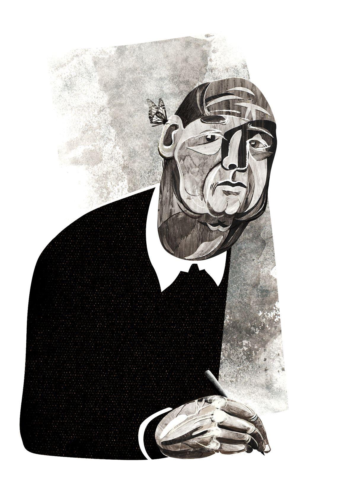 Плакат-портрет Владимира Набокова - дизайнер KaterinaV