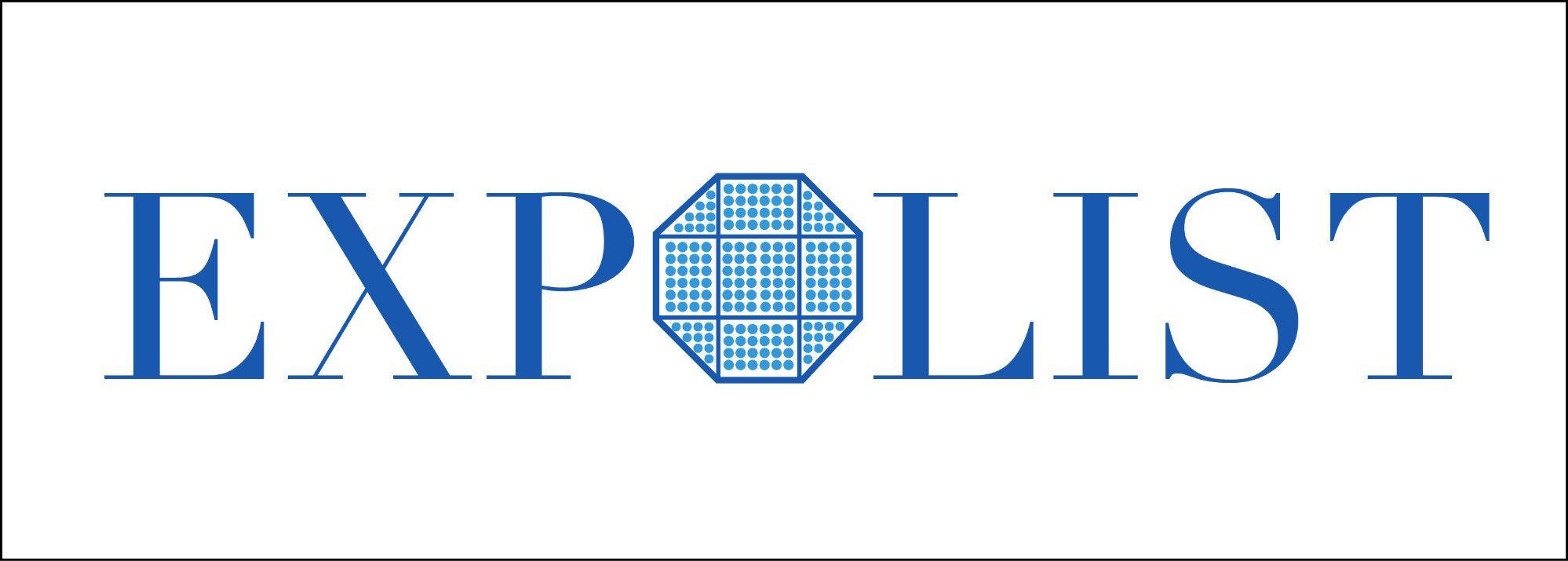 Логотип выставочной компании Эксполист - дизайнер Azotttt2