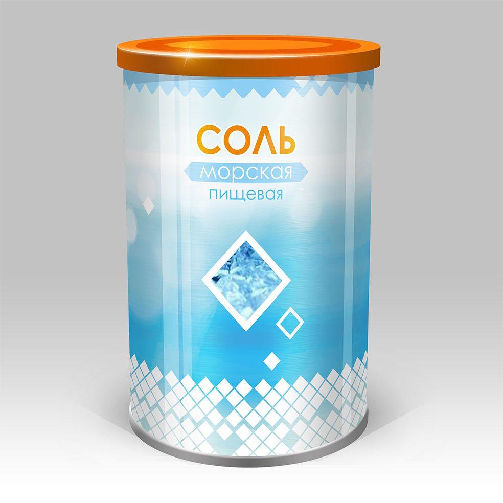 Дизайн этикетки для соли пищевой морской  - дизайнер Der_Zhuk