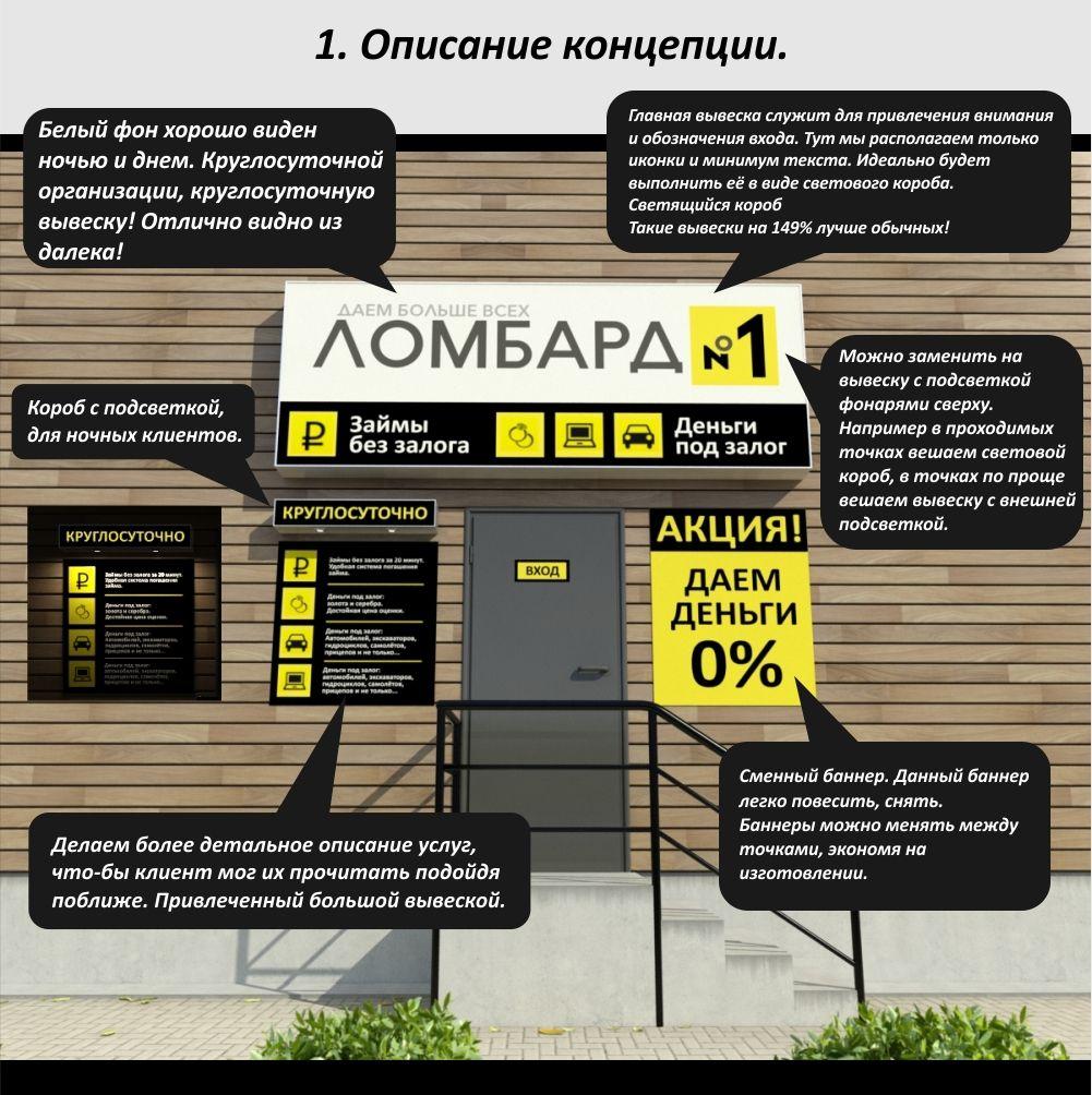 Концепция оформления отделений Ломбард №1 - дизайнер ULTRAWEN