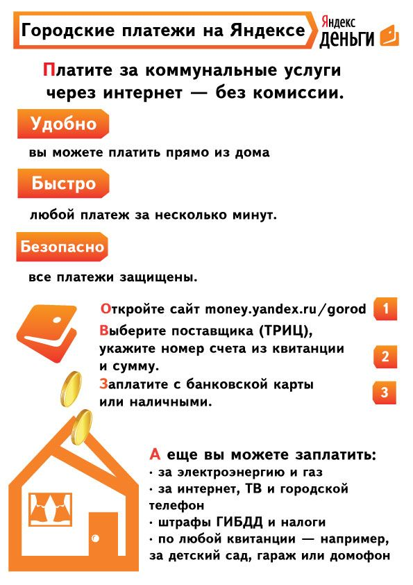 Реклама Яндекс.Денег для оплаты ЖКХ - дизайнер kinomankaket