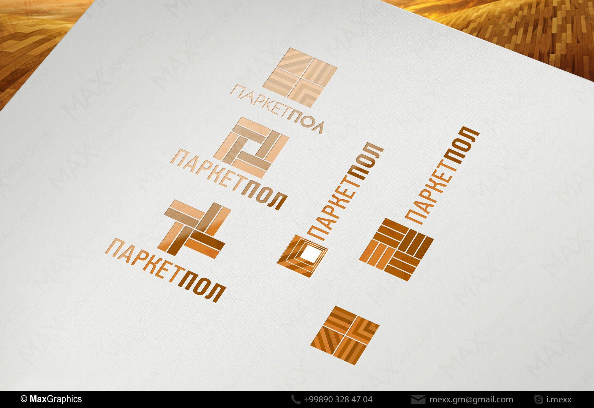 Лого и фирменный стиль компании по продаже паркета - дизайнер Kreativa
