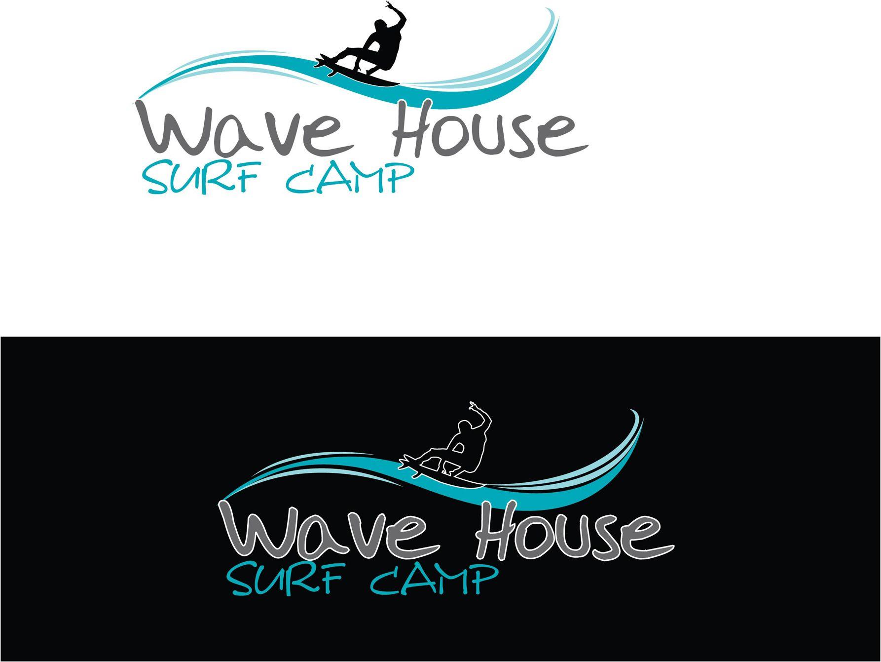 Редизайн логотипа для серф-кэмпа на Бали - дизайнер pups42