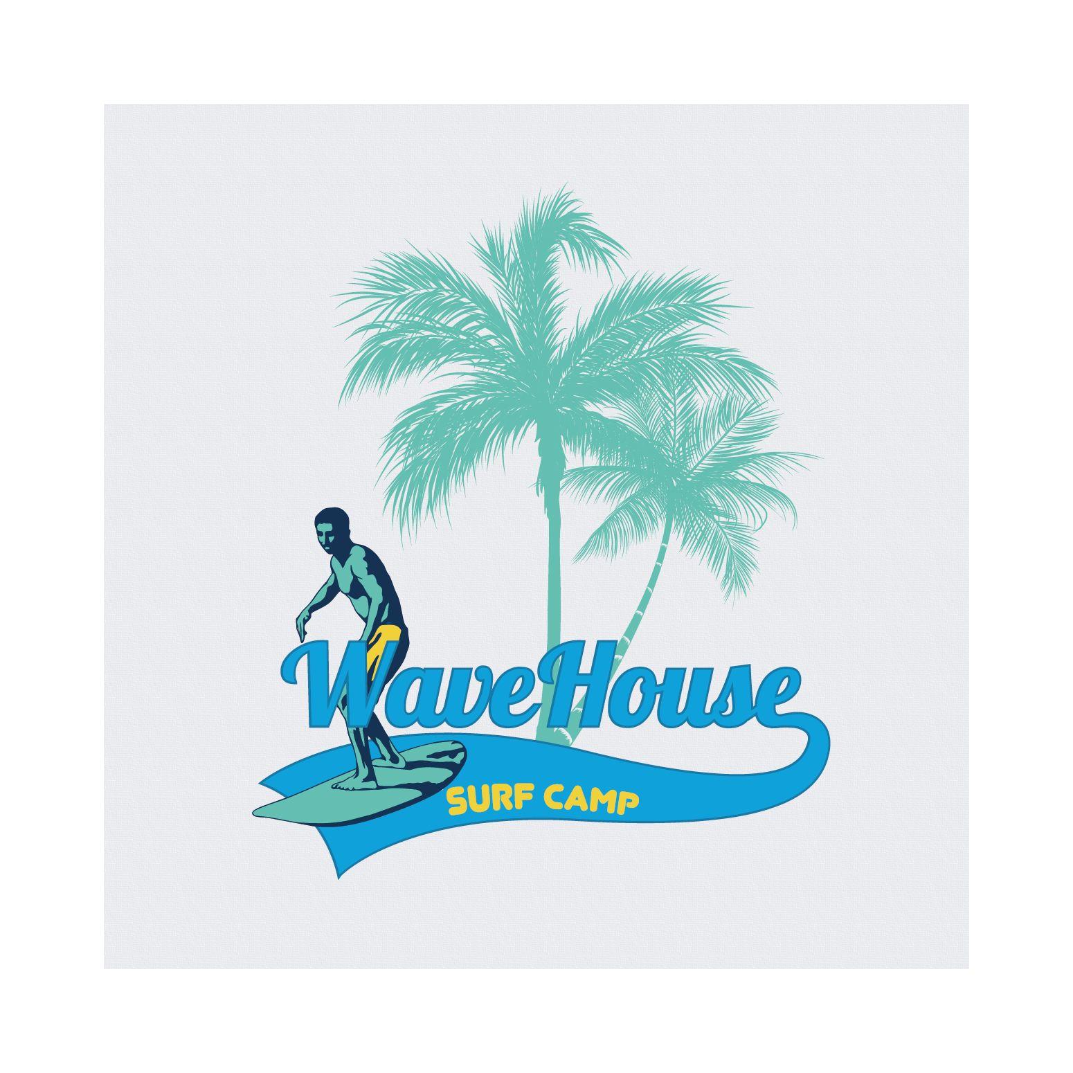 Редизайн логотипа для серф-кэмпа на Бали - дизайнер klyax