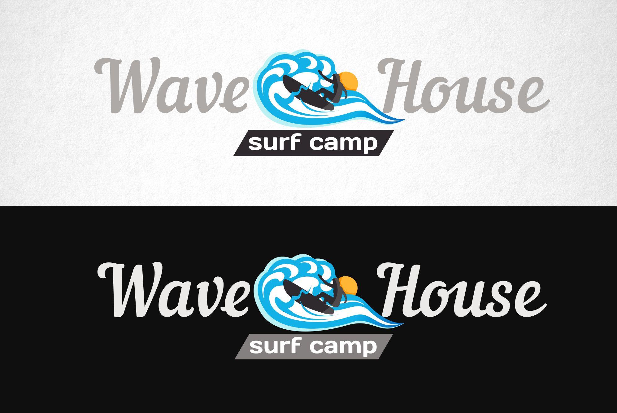 Редизайн логотипа для серф-кэмпа на Бали - дизайнер funkielevis