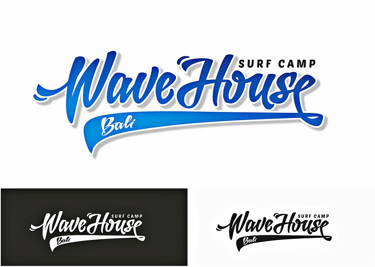 Редизайн логотипа для серф-кэмпа на Бали - дизайнер roman230005