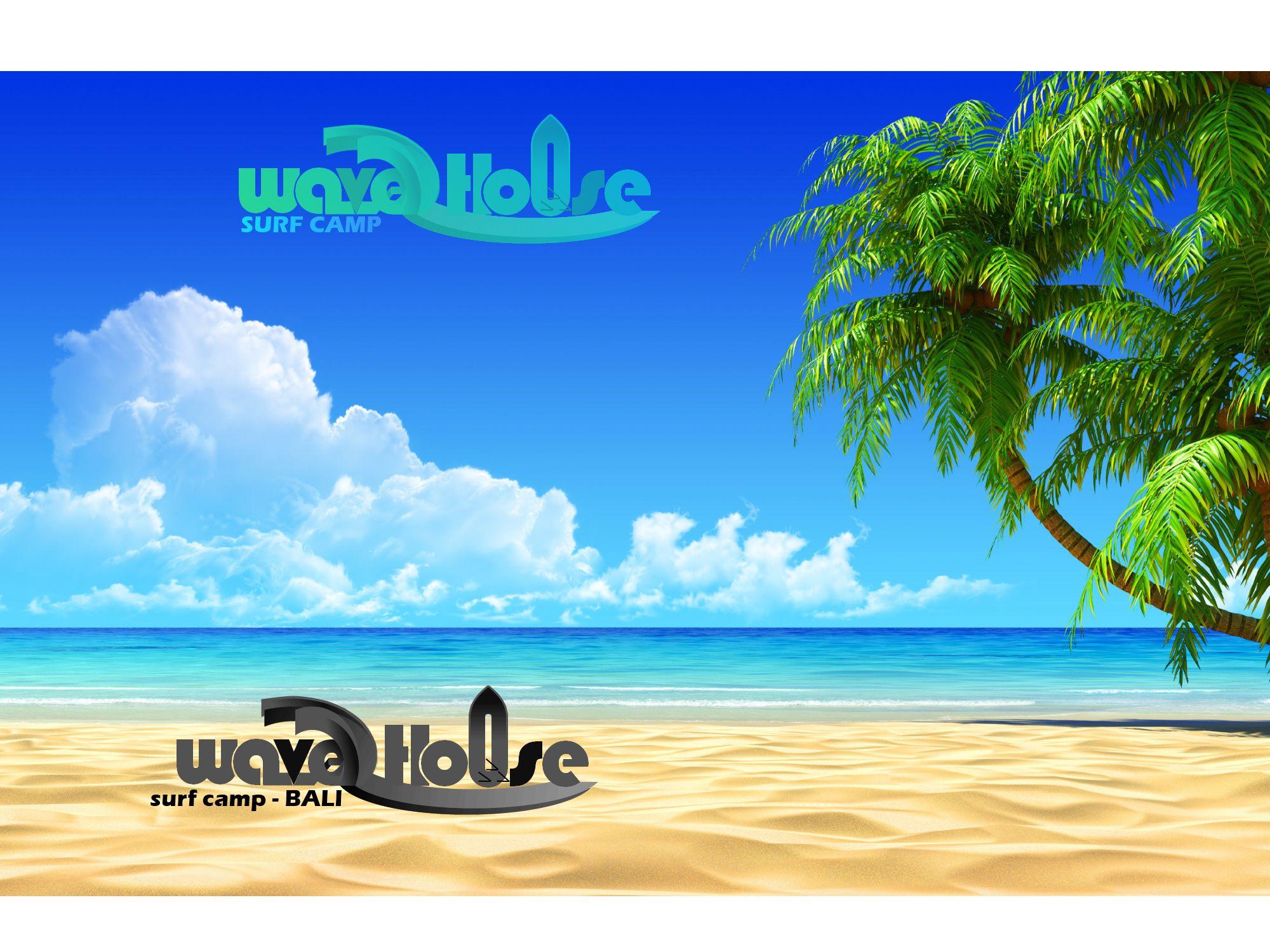 Редизайн логотипа для серф-кэмпа на Бали - дизайнер GQmyteam