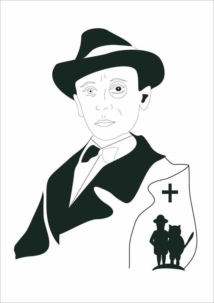 Плакат-портрет Михаила Булгакова - дизайнер pipipi25