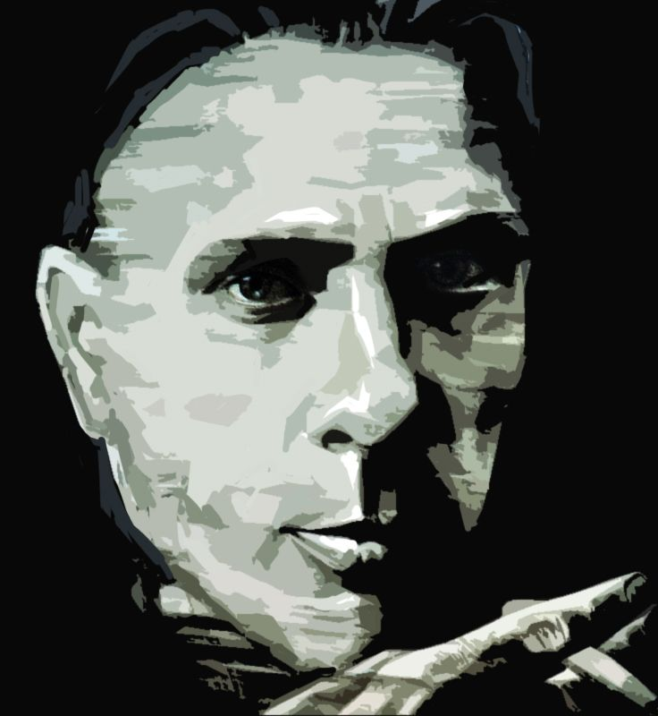 Плакат-портрет Михаила Булгакова - дизайнер art-valeri