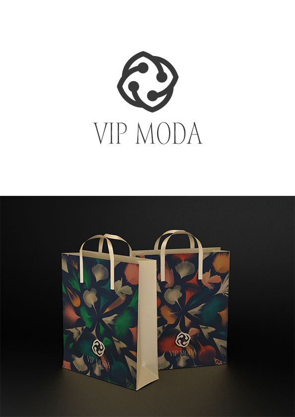 Лого и фирменный стиль компании ВИПМОДА  - дизайнер kotabloknota