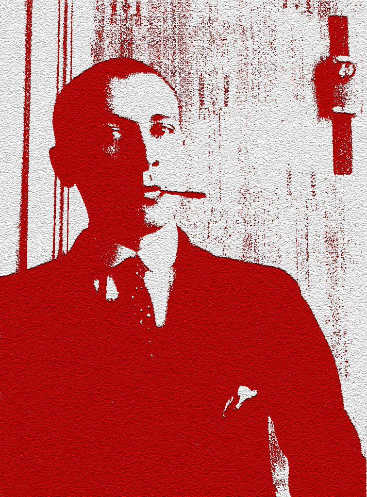 Плакат-портрет Михаила Булгакова - дизайнер Askar24
