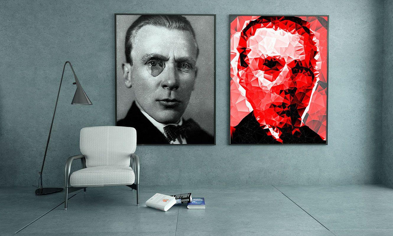 Плакат-портрет Михаила Булгакова - дизайнер path