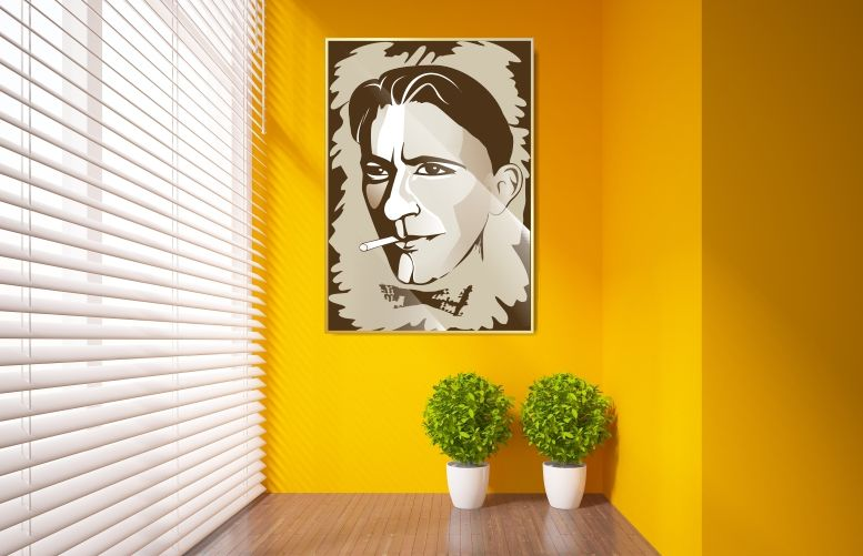 Плакат-портрет Михаила Булгакова - дизайнер Lara2009