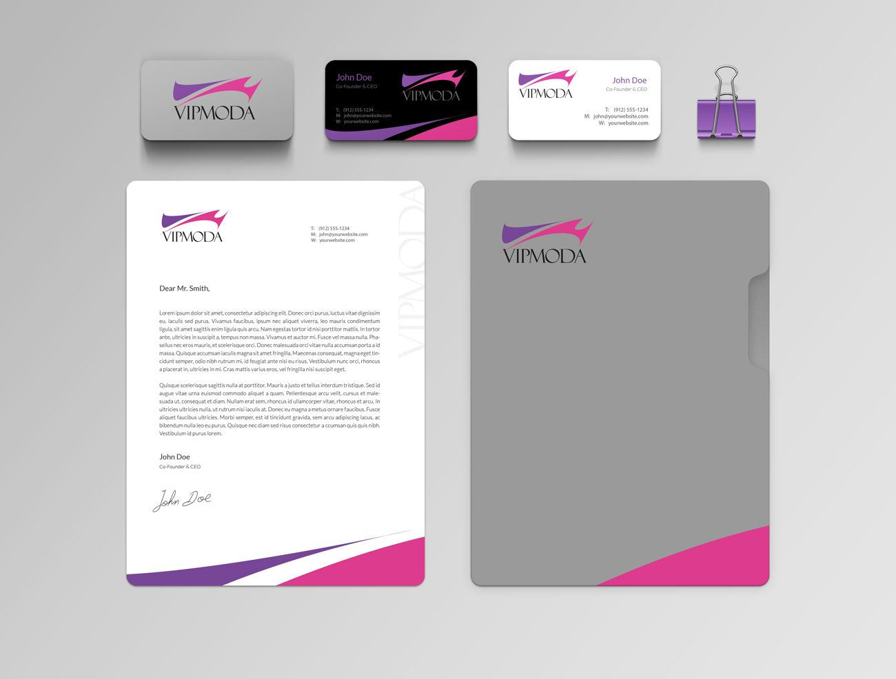 Лого и фирменный стиль компании ВИПМОДА  - дизайнер telenoki