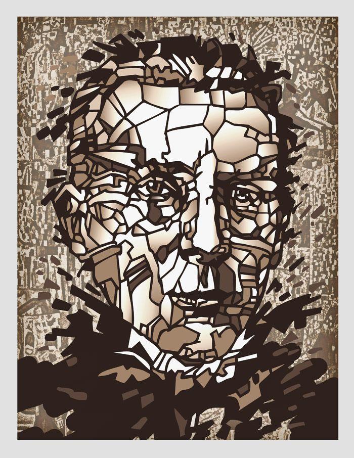 Плакат-портрет Михаила Булгакова - дизайнер Zheravin