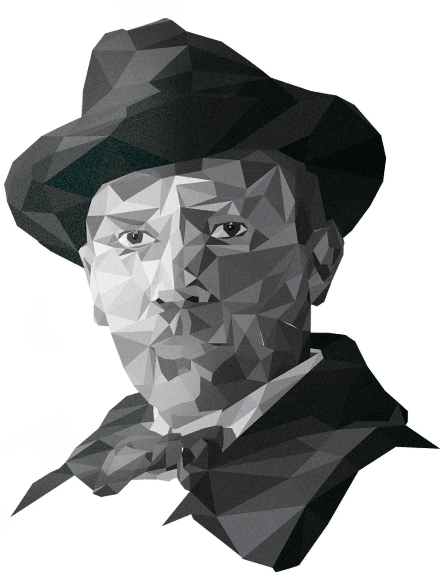 Плакат-портрет Михаила Булгакова - дизайнер NurlanT