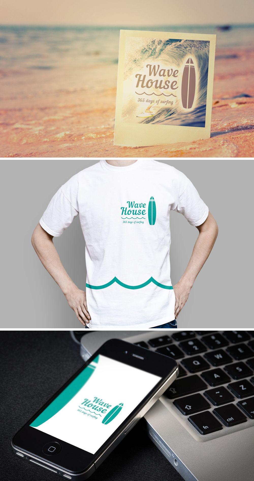Редизайн логотипа для серф-кэмпа на Бали - дизайнер GreenRed