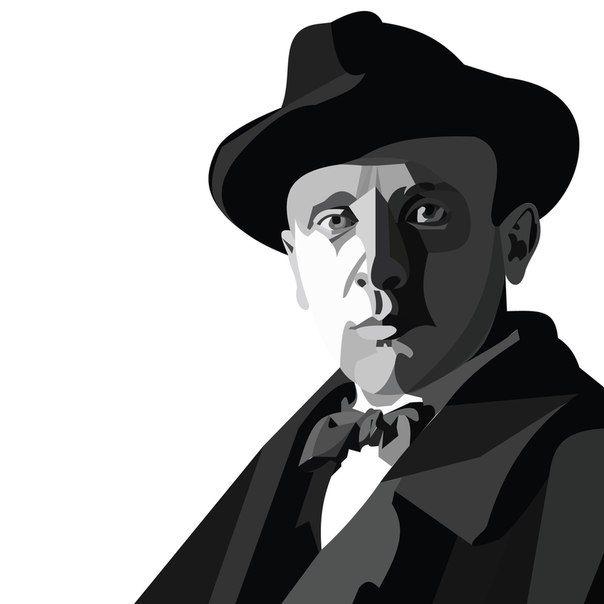Плакат-портрет Михаила Булгакова - дизайнер filk