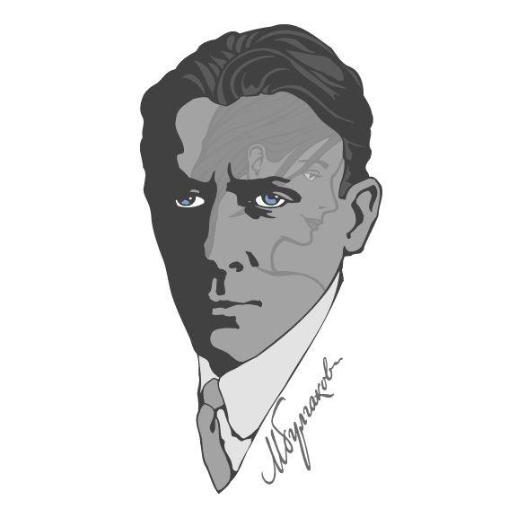 Плакат-портрет Михаила Булгакова - дизайнер zhutol