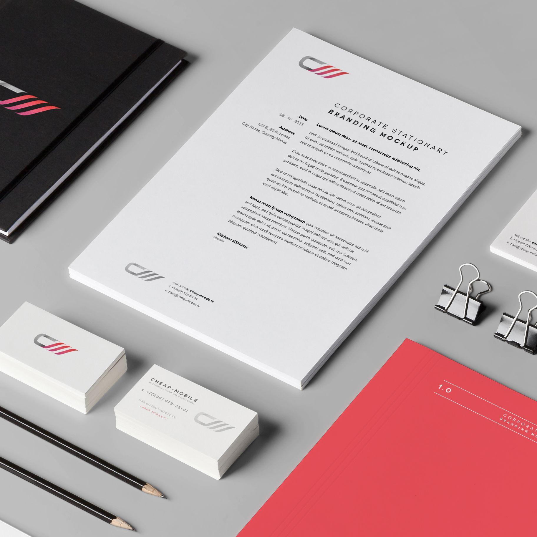 Лого и фирменный стиль для ИМ (Мобильные телефоны) - дизайнер redsideby