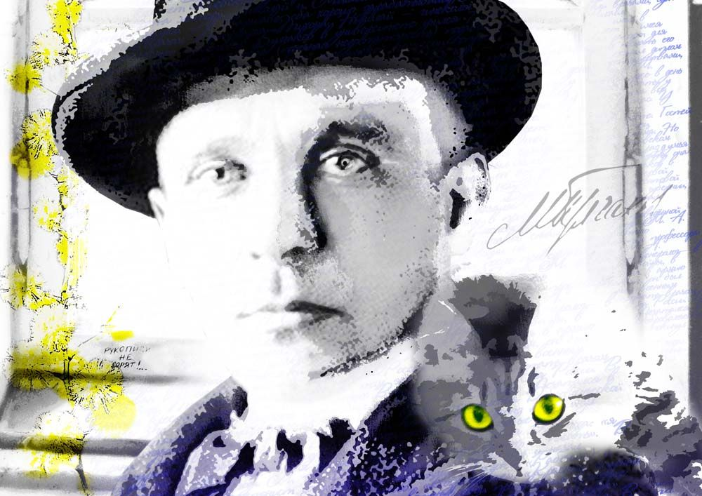 Плакат-портрет Михаила Булгакова - дизайнер Mini_kleopatra