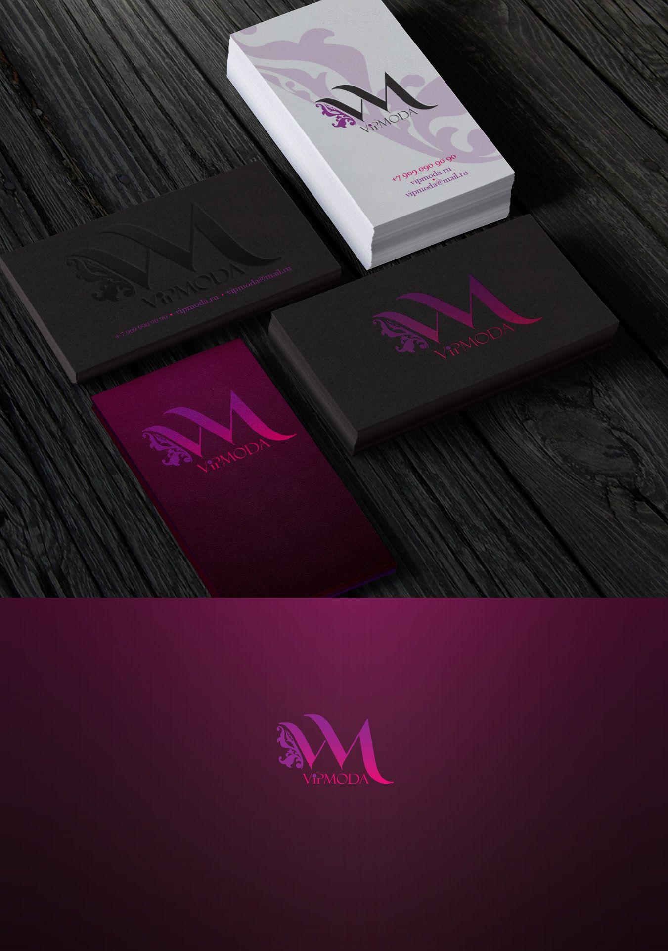 Лого и фирменный стиль компании ВИПМОДА  - дизайнер Ula_Chu