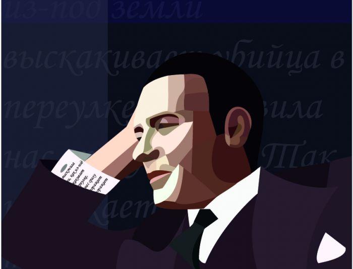 Плакат-портрет Михаила Булгакова - дизайнер Darik