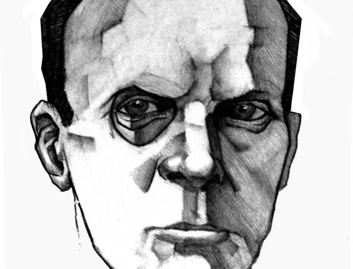 Плакат-портрет Михаила Булгакова - дизайнер Vector