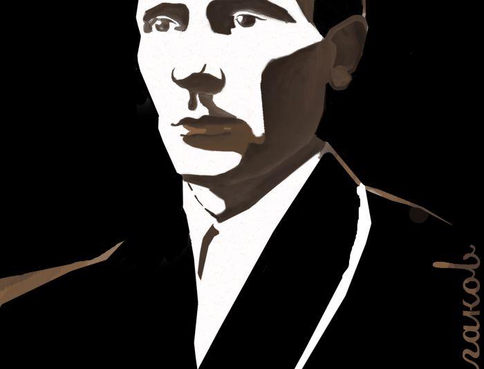 Плакат-портрет Михаила Булгакова - дизайнер ZheweA