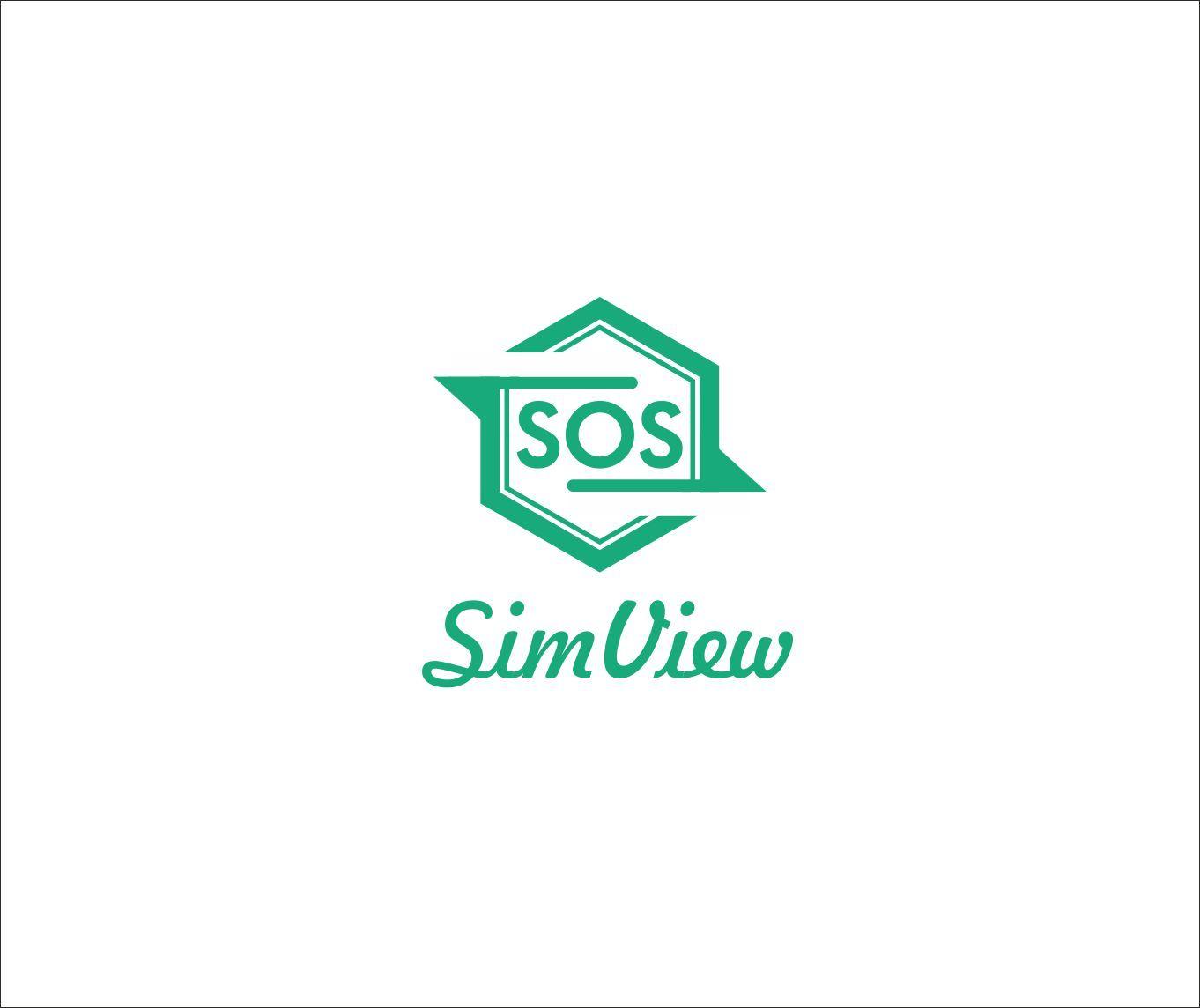 SimView лого и фирменный стиль - дизайнер art-valeri