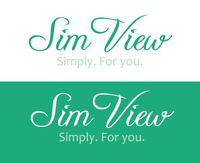 SimView лого и фирменный стиль - дизайнер Cuan