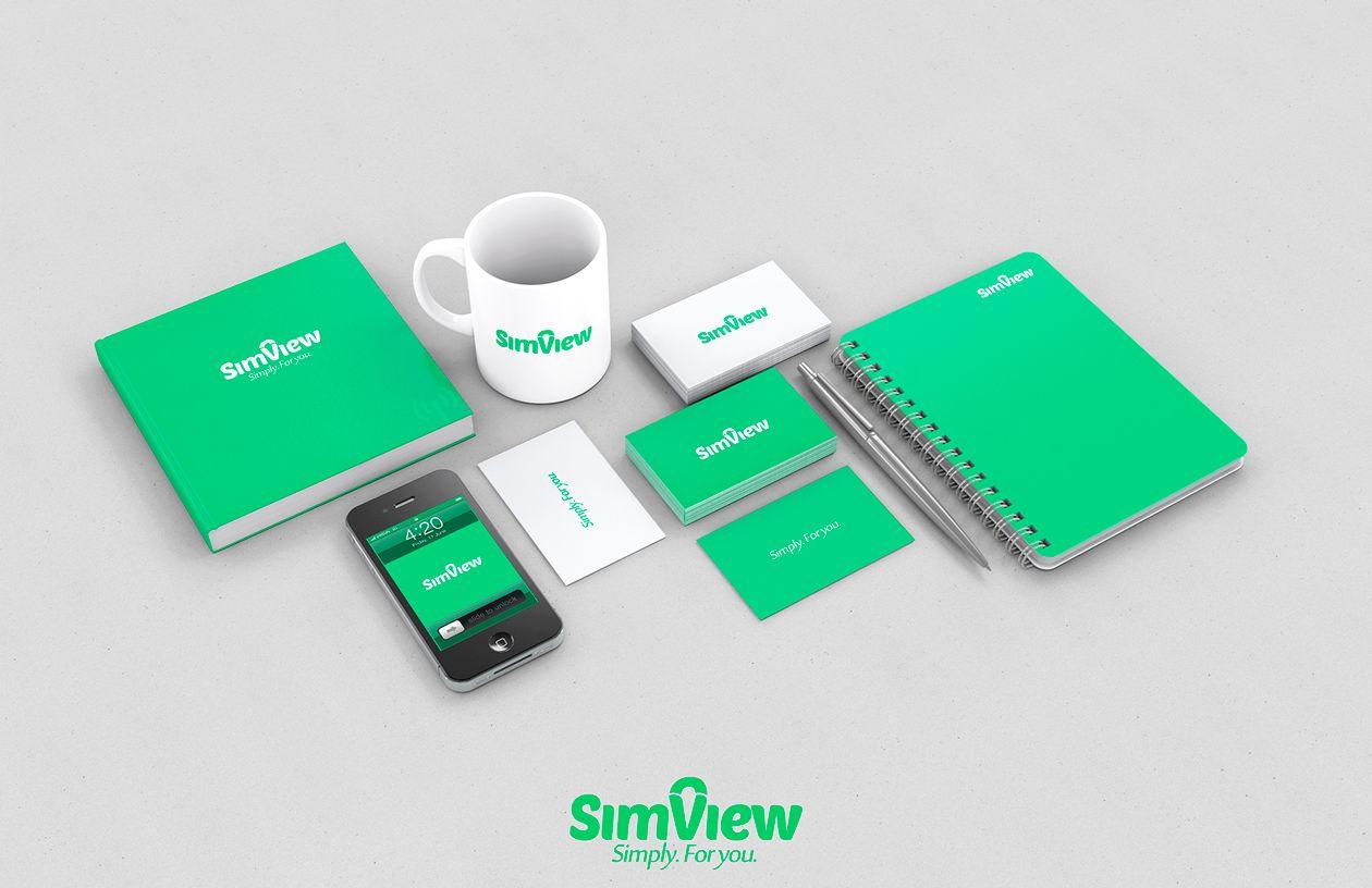 SimView лого и фирменный стиль - дизайнер dimkoops