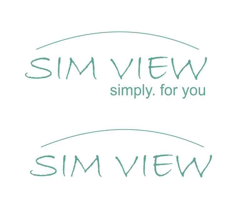 SimView лого и фирменный стиль - дизайнер Eneimor